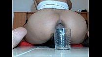 Using 4 huge dildos - at sexycam4u.com