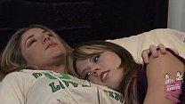 Lesbian babe Amber Chase seducing Kayla Paige Thumbnail
