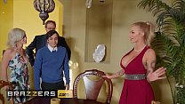 Busty blonde (Joslyn James) joins hot threesome...