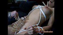 Busty brunette hottie gets spanked by a really ...
