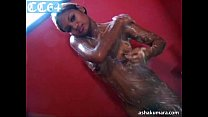 Dusky and sexy Asha Kumara stripping naked and taking shower Thumbnail