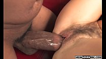 Mom Lake Russell takes a big black cock in fron...