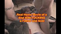 Home Movie Dad and Son fuck a BABE