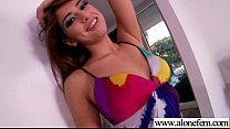 Solo Girl Strip And Play With Lots Of Kind Things video-27