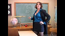 Sexy old spunker teacher loves to fuck her juicy pussy for you