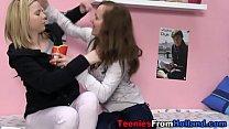 Teenage les licks cunt