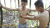 Cute Asian Boy Bound In The Wood Thumbnail