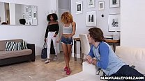 Black BFFs Kendal and Riley shared with bfs dick Thumbnail