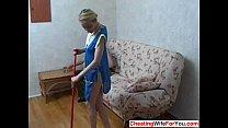 Slim Russian housemaid