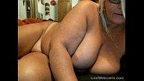 Chubby mature masturbates on webcam thumb