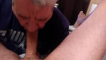 Pumping a Big Load of Hot Cum in Mouth