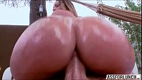 Cute Jada gets pussy rammed from behind by her ... Thumbnail