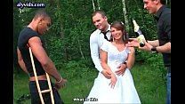 Bride doing blowjob and get double penetrated