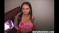 Tampa Teen Gives Valentine's Day Blowjobs At The Gloryhole!