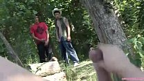 Outdoor shemale threesome Thumbnail