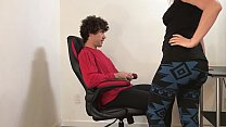Stepmom helps stepson cum and go to the party -...
