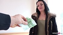 GERMAN SCOUT - 18yr OLD CUTE TEEN MARIE TALK TO FUCK FOR MONEY AT STREET CASTING IN BERLIN's Thumb