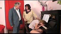 horny grandpa in a wild house orgy