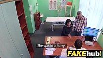 Fake Hospital Czech doctor cums over horny chea...