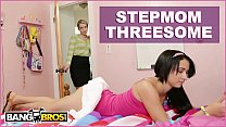 BANGBROS - Stepmom Mandy Sky Has Threesome With Stepdaughter Courtney Cummz Thumbnail