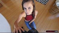 Very tight teen stepsis Kharlie Stone gets ruin...