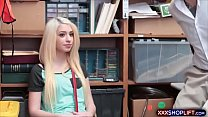 Teen chick shoplifter punish fucked rough in th...