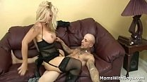 Big tit blonde mom Wendy Deep sucking cock and ...