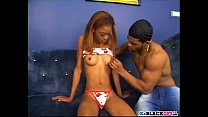 Sensual black Sandy Brown gets fucked and defaced