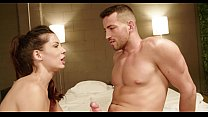 She comes to the room provocatively because she...