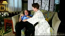 Super cute older lady loves to suck cock and ea... Thumbnail