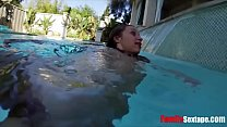 Underwater Family Sexventure- Dad fucks daughter under water