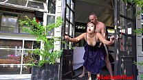 Public OUTDOORS Dripping CREAMPIE with IG Model...