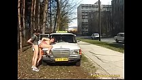 cute teen anal fucked by taxi driver