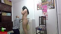 Preparing the clean clothes and her pussy CRI141