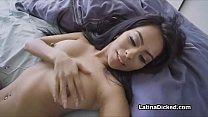 Banging fine perky Latina roomie POV style