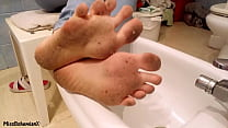 Washing Extremely Dirty Feet - Close Up (TEASER) Thumbnail
