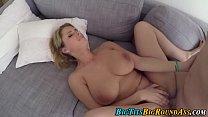 Bouncing big tits babe
