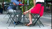 Cams4free.net - Candid Girlfriend at Lunch Shoes Off Thumbnail