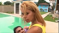 Simone Brazilian MILF Thresome with her daughter's Thumb