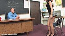Sweet Blonde Teen Seduces Her Teacher! thumbnail