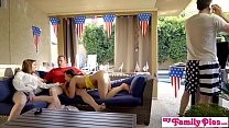 July 4th Threesome With Teen Step Daughter And ...