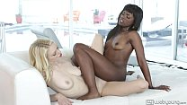 Ana Foxxx and Alli Rae Hot Interracial Lesbians