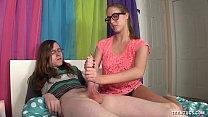 Nerd Teen Jerks Off Her Friend