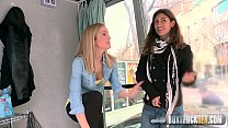 Hot Julia Roco and Sicilia Play with a Realistic Dildo in Public Thumbnail