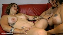 Hot Slutty BBW Lesbians Lick Bellys, Boobs and...