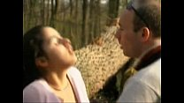 FRENCH CASTING n6 petite brunette teen in a for...
