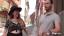 Liberal hipster girl gets drilled by a conserva...