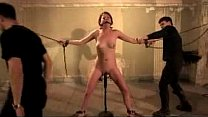 Girl On Chains Clips On Her Pussy Vibrator Unde...