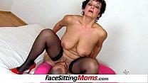 Big natural breasts madam Greta facesitting and... Thumbnail