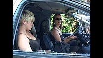 Short haired blonde girl gets seduced in the tu...